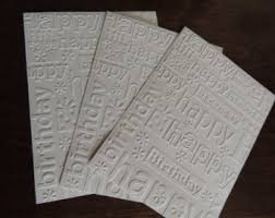 embossed cards etsy
