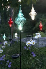 flower solar stake lights garden solar stake lights china newest metal flowers on stake solar