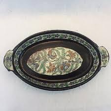 Ottoman Pottery Antique Iznik Turkish Ottoman Pottery Plate Bowl Cover