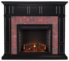 brick electric fireplace binhminh decoration