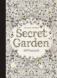 secret garden colouring book postcards secret garden 20 postcards 0787721964056 johanna