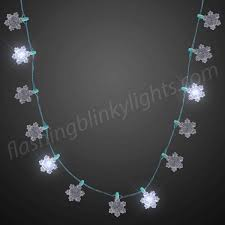 led jewelry snowflakes string lights necklaces by fbl