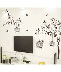stickerskart flowers trees pvc brown wall stickers buy