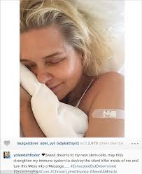 where dod yolana get lime disease real housewives yolanda foster uses stem cells to fight lyme