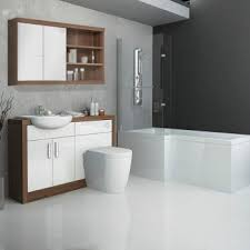 Furniture Bathroom Suites Lucido L Shape 1500 Furniture Suite White Buy At Bathroom City