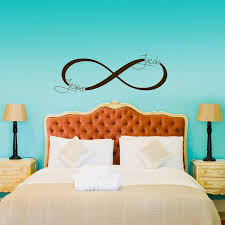 Bedroom Decals For Adults Infinity Symbol Monogram Personalized Custom Wall Decals