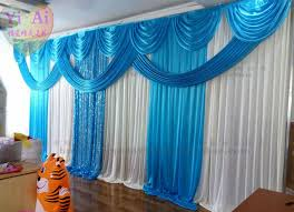 wedding backdrop blue aliexpress buy wedding props decoration curtain blue
