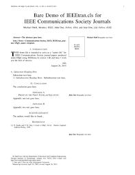 ieee comsoc ieee communication society journal template latex