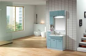 wooden vanity idea with unique design and white sinks unique