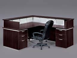 corner l shaped office desk with hutch black and cherry green