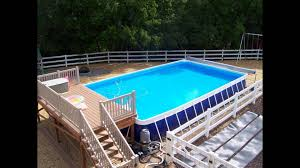 wood decks above ground pools small above ground with image
