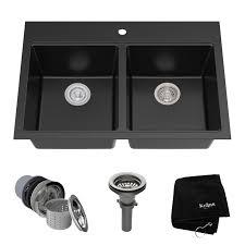 Sink For Kitchen Granite 33 X 22 Basin Undermount Kitchen Sink Reviews