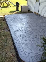 Flagstone Stamped Concrete Pictures by Countdown To Summer Outdoor Living Ideas Difelice Stamped