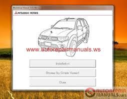 mitsubishi pajero sport ge 2014 service manual cd auto repair
