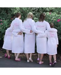 wedding dressing gowns personalised bridesmaid bridal party waffle dressing gown