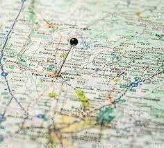 Nevada City Map Travel Road Map Macro Of Yuba City Grass Valley California Stock