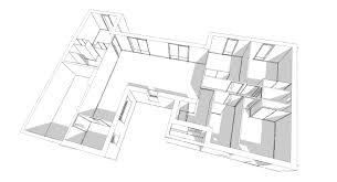 plan maison en u ouvert plan maison contemporaine en u u2013 maison moderne