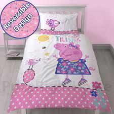 Uk Single Duvet Size Peppa Pig U0026 George Pig Duvet Quilt Covers U2013 Toddler Single