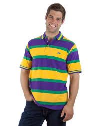mardi gras polo shirt horizontal striped mardi gras polo