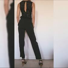 express black jumpsuit 64 express black lace jumpsuit from s closet on