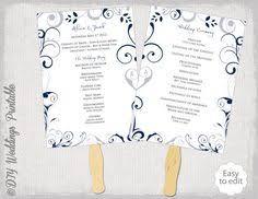 Program Fan Template Wedding Fan Program Template Printable Tiffany Blue Fan Program