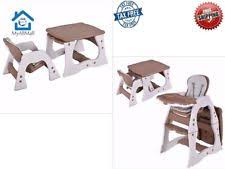 High Chair Desk 3 In 1 Baby High Chair Convertible Play Table Seat Booster Toddler