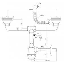 Double Kitchen Sink Bottle Drain Waste Trap Mm Wash Machine - Fitting kitchen sink waste