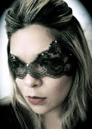 black lace mask w no ties catwoman mask boudoir mask
