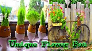 unique flower pot ideas youtube