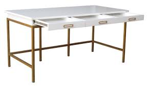 60 Inch Writing Desk by Margaux Lacquered Writing Desk