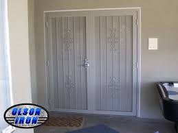 French Door Security Bar - custom wrought iron security doors and bars by olson iron las