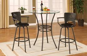 contemporary counter height table metal base glass top contemporary counter height dinette table