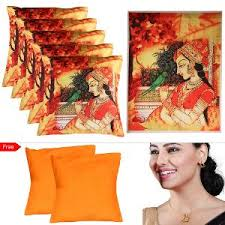 homeshop18 home decor home decor 5 cushion covers 1 canvas painting by mesleep