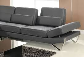 Sectional Sofas Gray Sectional Sofa In Grey Leather By At Home Usa