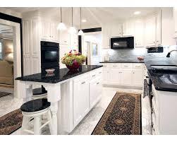 walnut kitchen cabinets granite countertops grey with black white