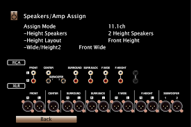 auro 3d home theater system speaker configuration and u201camp assign u201d settings av7702