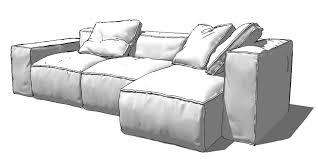 3d Sofa Sketchup Texture Sketchup 3d Model Home Furniture Sofa
