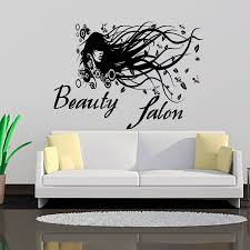 wall26 removable wall sticker wall mural beautiful landscape beauty salon long hair lady wall decals creative home decor vinyl removable diy wall art stickers