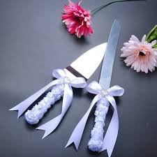wedding cake knife aliexpress buy wedding cake serving set white flower design