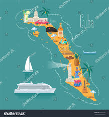 Map Cuba Map Cuba Vector Illustration Design Icons Stock Vector 687317326