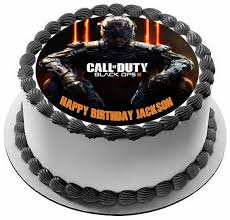 call of duty birthday cake call of duty ops 3 edible birthday cake topper or cupcake topper