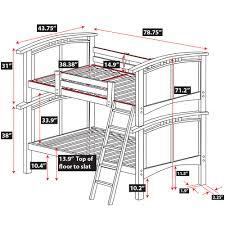 bunk bed measurements astoria hardwood bunk bed epoch design