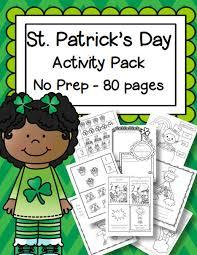 st patrick u0027s day printable activities no prep preschool