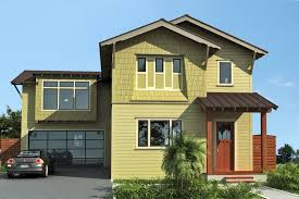 exterior blue exterior house paint with orange stripe and black