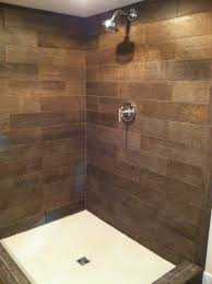 a lower level shower can have a warm welcoming feel when given