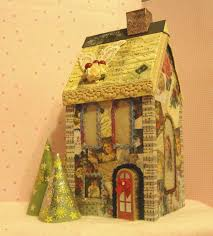 paper crafts made with paper the lighted christmas house a
