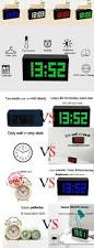 display big jumbo creative alarm clock light digital wall clock