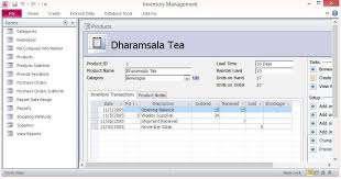stock control template excel free inventory database software