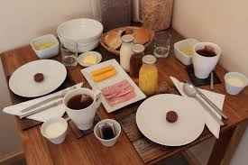 breakfast table for two full continental breakfast table for two stock photo image of