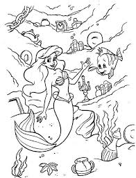 disney princess ariel coloring pages kids coloring